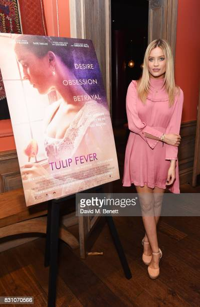 Laura Whitmore attends a VIP preview screening of 'Tulip Fever' at The Soho Hotel on August 13 2017 in London England
