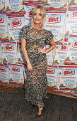 Laura Whitmore attends as celebrity food fans enjoy dishes from all over the world at the Just Eat Food Fest at Red Market on July 21 2016 in London...