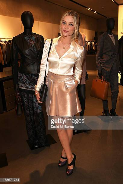Laura Whitmore attends Emporio Armani's Summer Garden Live 2013 at the Emporio Armani new Bond Street store on July 16 2013 in London England