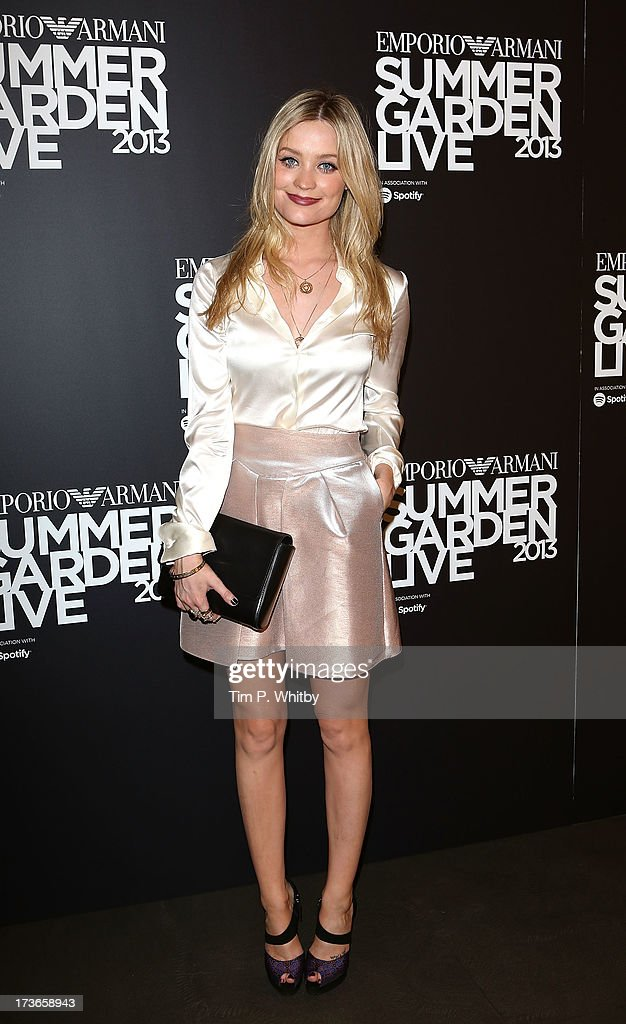 Laura Whitmore attends Emporio Armani's Summer Garden Live 2013 on July 16, 2013 in London, England.