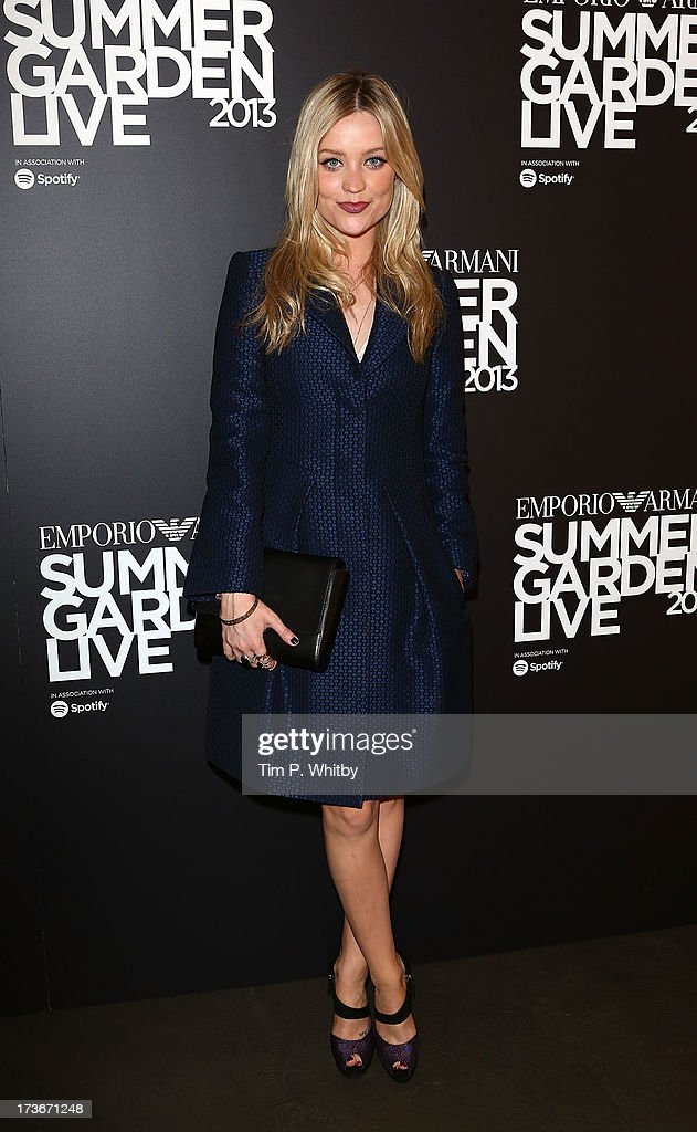 <a gi-track='captionPersonalityLinkClicked' href=/galleries/search?phrase=Laura+Whitmore&family=editorial&specificpeople=5599316 ng-click='$event.stopPropagation()'>Laura Whitmore</a> attends Emporio Armani's Summer Garden Live 2013 on July 16, 2013 in London, England.