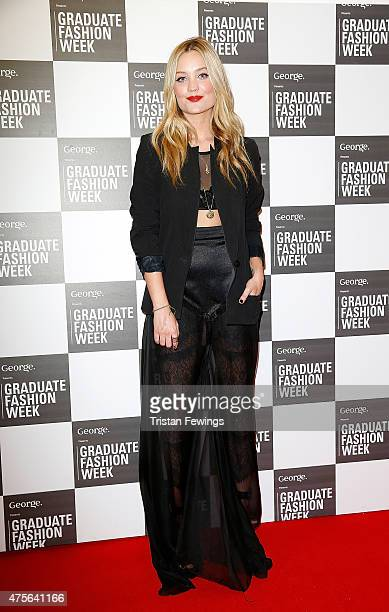 Laura Whitmore attends on day 4 of Graduate Fashion Week at The Old Truman Brewery on June 2 2015 in London England