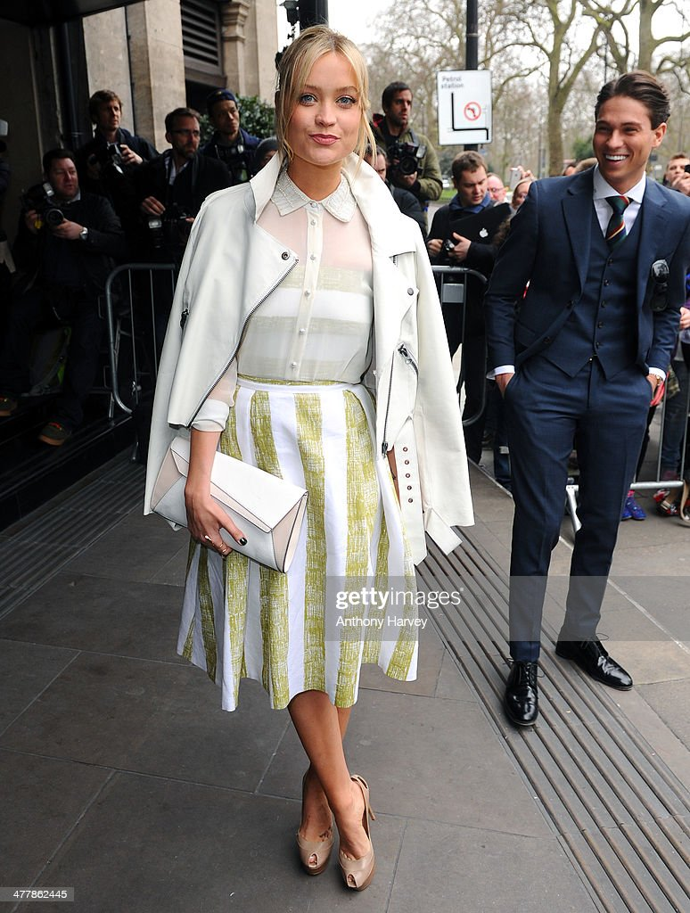 Laura Whitmore attends the 2014 TRIC Awards at The Grosvenor House Hotel on March 11 2014 in London England