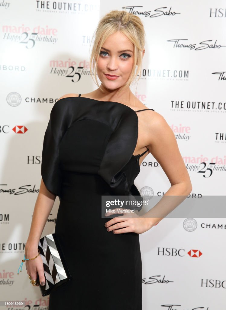 <a gi-track='captionPersonalityLinkClicked' href=/galleries/search?phrase=Laura+Whitmore&family=editorial&specificpeople=5599316 ng-click='$event.stopPropagation()'>Laura Whitmore</a> attends the 25th birthday party of Marie Claire at Hotel Cafe Royal on September 17, 2013 in London, England.