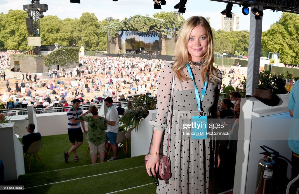 Laura Whitmore attends the Barclaycard Exclusive British Summer Time Festival at Hyde Park on July 9, 2017 in London, England.