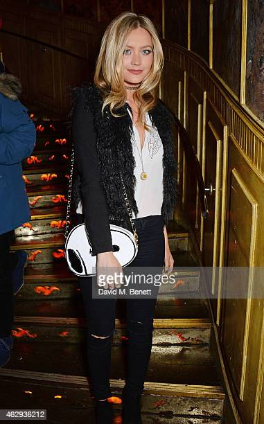 Laura Whitmore attends The Box 4th Birthday Party in partnership with Belvedere Vodka at The Box on February 7 2015 in London England