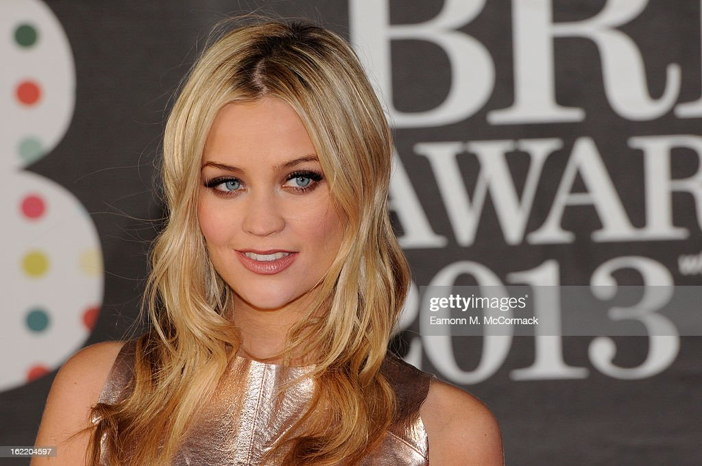 Laura Whitmore attends the Brit Awards 2013 at the 02 Arena on February 20, 2013 in London, England.