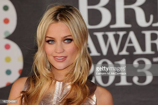 Laura Whitmore attends the Brit Awards 2013 at the 02 Arena on February 20 2013 in London England