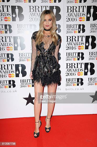 Laura Whitmore attends the BRIT Awards 2016 at The O2 Arena on February 24 2016 in London England
