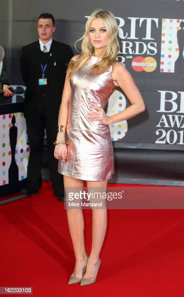 Laura Whitmore attends the Brit Awards at 02 Arena on February 20 2013 in London England