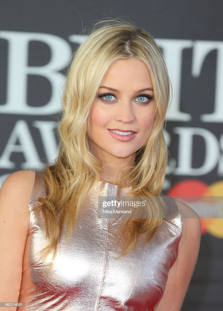 Laura Whitmore attends the Brit Awards at 02 Arena on February 20, 2013 in London, England.