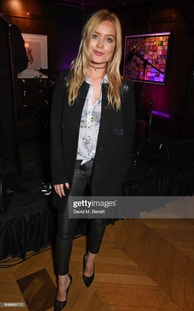Laura Whitmore attends the Collette Cooper showcase with Luc Belaire at The Groucho Club on March 6, 2017 in London, England.