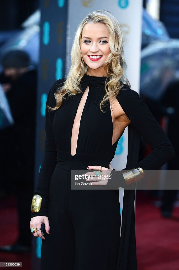 Laura Whitmore attends the EE British Academy Film Awards at The Royal Opera House on February 10, 2013 in London, England.