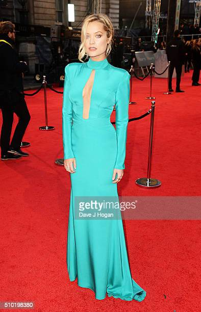 Laura Whitmore attends the EE British Academy Film Awards at The Royal Opera House on February 14 2016 in London England
