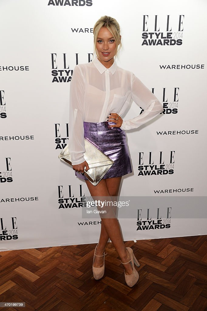 <a gi-track='captionPersonalityLinkClicked' href=/galleries/search?phrase=Laura+Whitmore&family=editorial&specificpeople=5599316 ng-click='$event.stopPropagation()'>Laura Whitmore</a> attends the Elle Style Awards 2014 at one Embankment on February 18, 2014 in London, England.