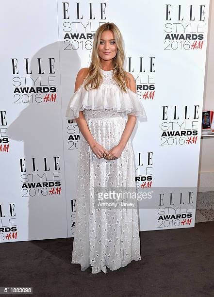 Laura Whitmore attends The Elle Style Awards 2016 on February 23 2016 in London England