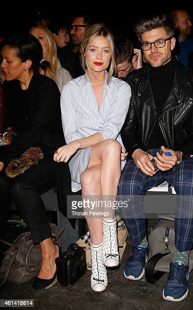 Laura Whitmore attends the ETautz show at the London Collections Men AW15 at on January 12 2015 in London England