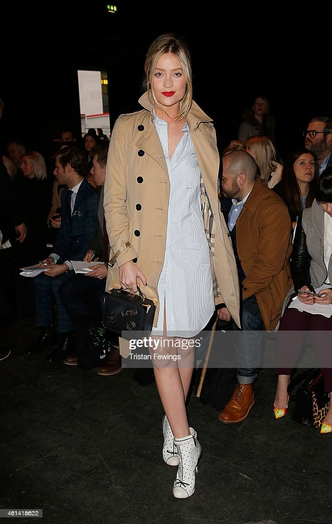 Laura Whitmore attends the E.Tautz show at the London Collections: Men AW15 at on January 12, 2015 in London, England.
