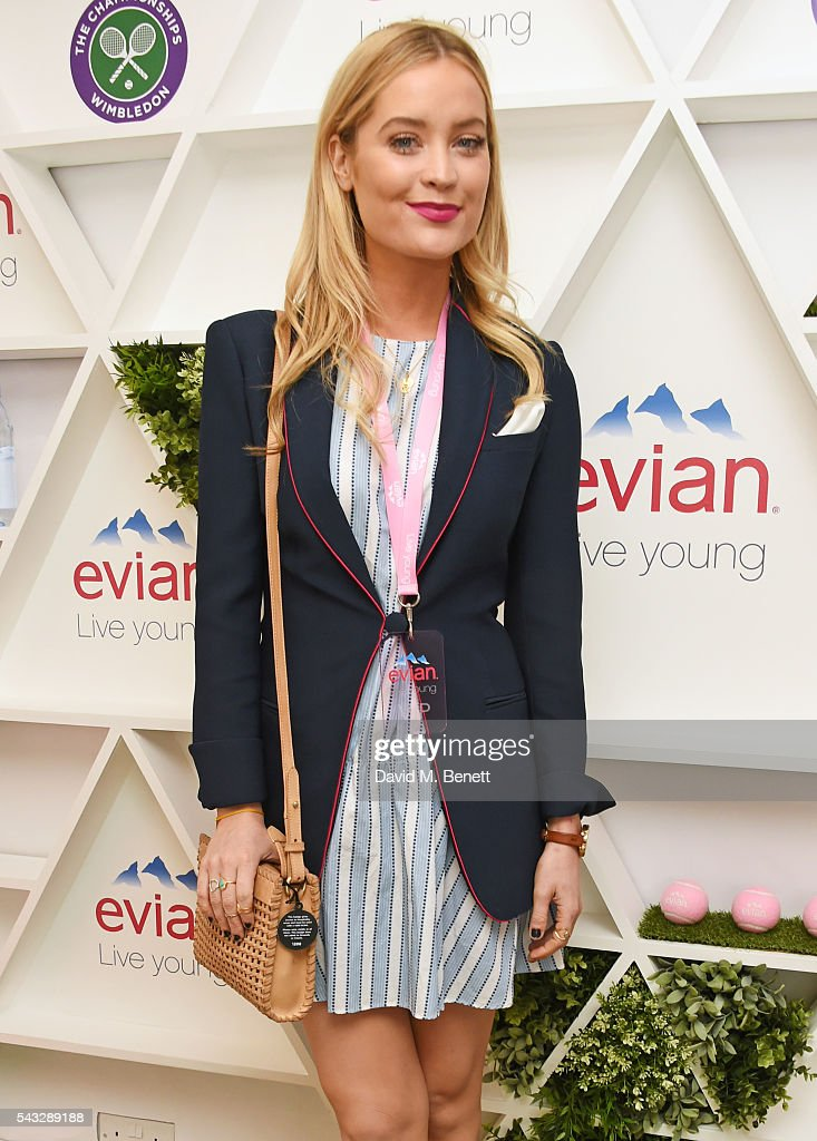 <a gi-track='captionPersonalityLinkClicked' href=/galleries/search?phrase=Laura+Whitmore&family=editorial&specificpeople=5599316 ng-click='$event.stopPropagation()'>Laura Whitmore</a> attends the evian Live Young suite during Wimbledon 2016 at the All England Tennis and Croquet Club on June 27, 2016 in London, England.