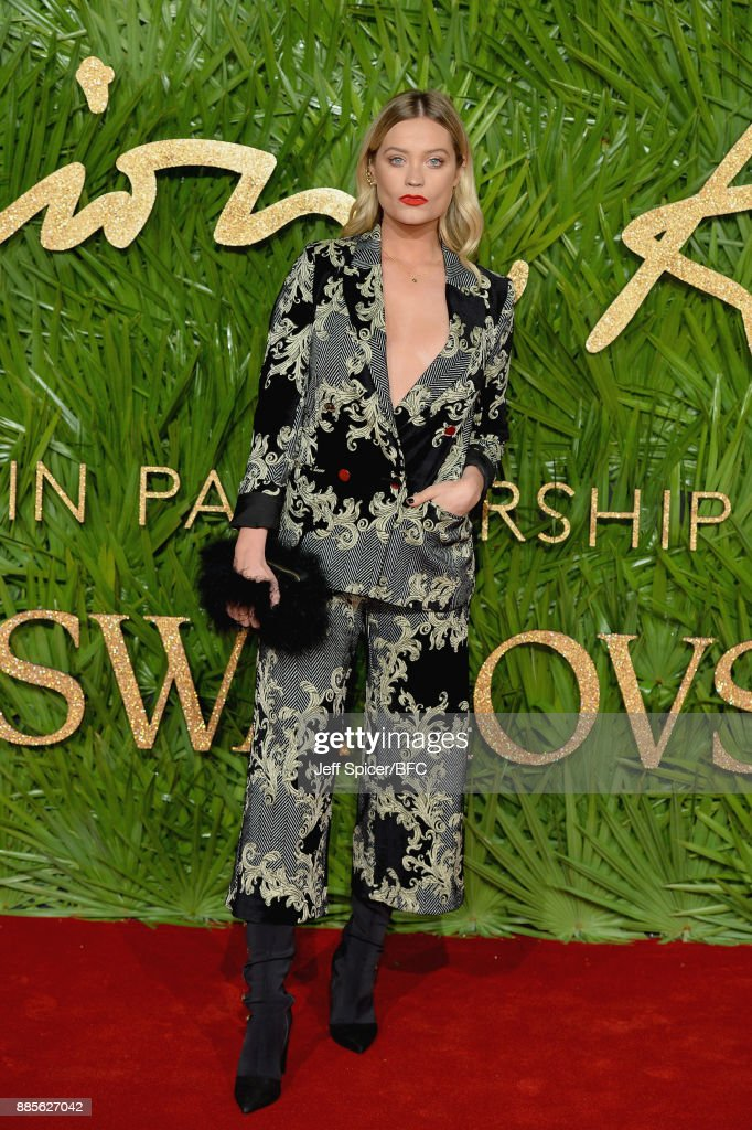 Laura Whitmore attends The Fashion Awards 2017 in partnership with Swarovski at Royal Albert Hall on December 4, 2017 in London, England.