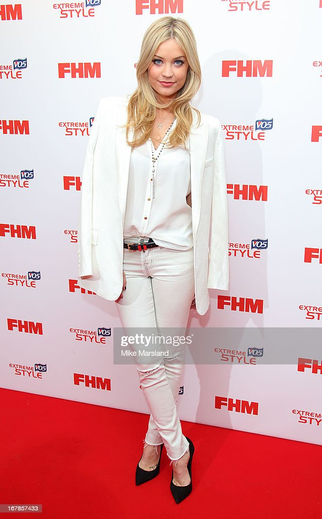 Laura Whitmore attends the FHM 100 Sexiest Women In The World 2013 party at Sanderson Hotel on May 1, 2013 in London, England.