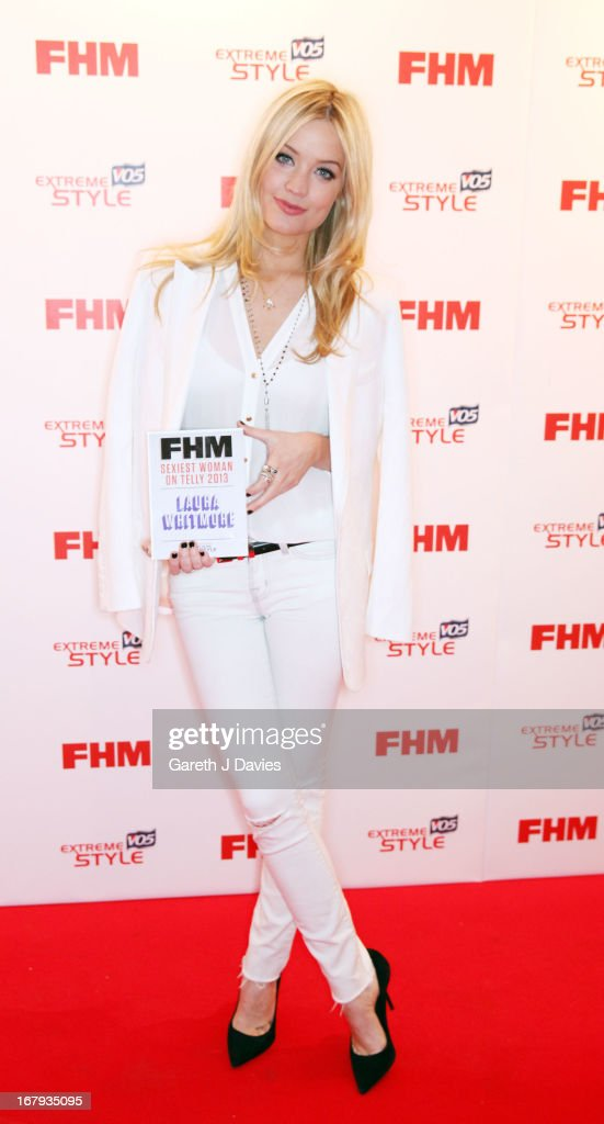 Laura Whitmore attends The FHM 100 Sexiest Women In The World 2013 Launch Party at the Sanderson Hotel on May 1, 2013 in London, England.
