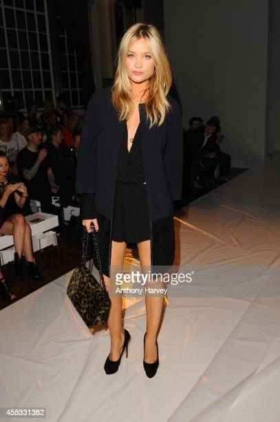 Laura Whitmore attends the Gyunel show during London Fashion Week Spring Summer 2015 at Victoria House on September 12 2014 in London England