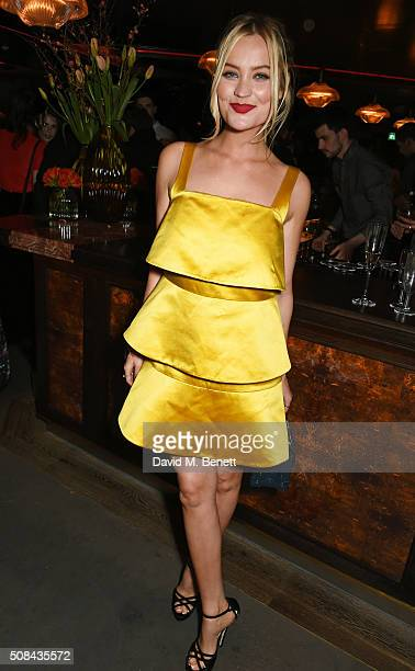 Laura Whitmore attends the InStyle EE Rising Star party ahead of the EE BAFTA Awards at 100 Wardour St on February 4 2016 in London England