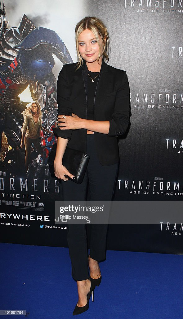 <a gi-track='captionPersonalityLinkClicked' href=/galleries/search?phrase=Laura+Whitmore&family=editorial&specificpeople=5599316 ng-click='$event.stopPropagation()'>Laura Whitmore</a> attends the Irish Premiere of 'Transformers 4: Age of Extinction' at Savoy Cinema on July 3, 2014 in Dublin, Ireland.
