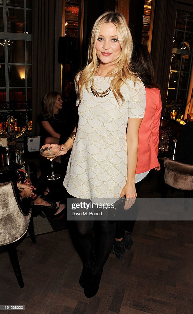 Laura Whitmore attends the launch of Baileys new sleek bottle design at the Cafe Royal hotel on March 21, 2013 in London, England.