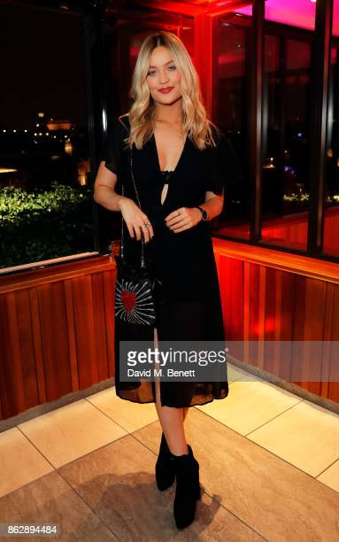 Laura Whitmore attends the launch of The Trafalgar St James in the hotel's spectacular new bar The Rooftop on October 18 2017 in London England