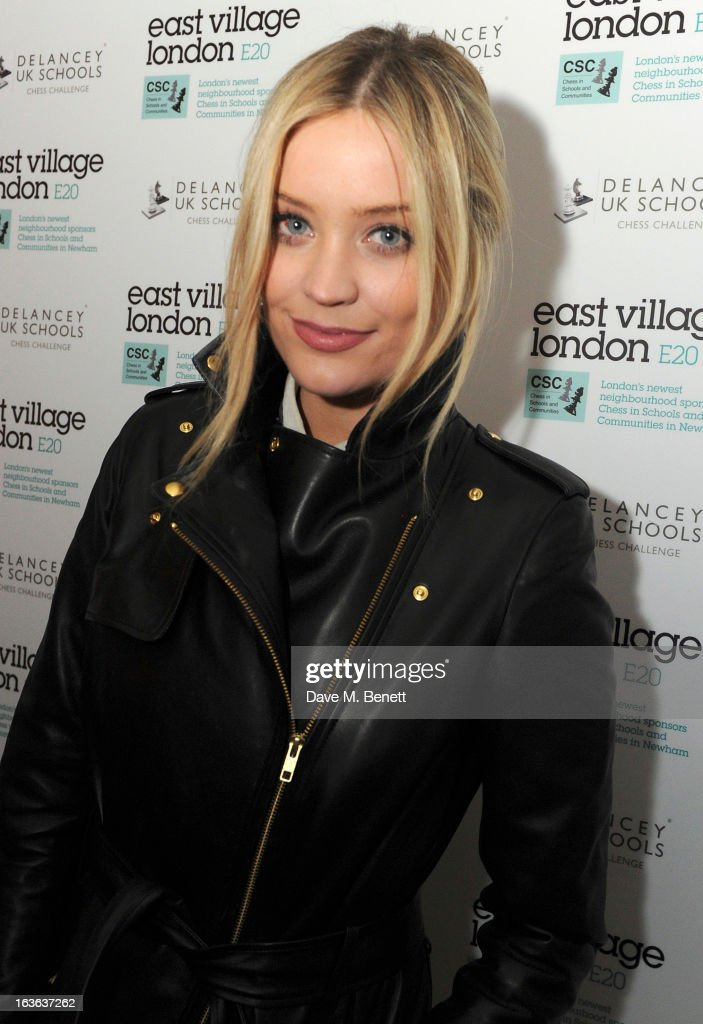 Laura Whitmore attends the launch of the 'Urban Chess' Funding Initiative from East Village at Mortons on March 13, 2013 in London England.