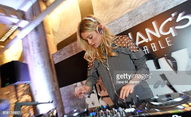 Laura Whitmore attends the launch party for PFChang's Asian Table restaurant which opens to the public on Friday 4th August on Great Newport Street...