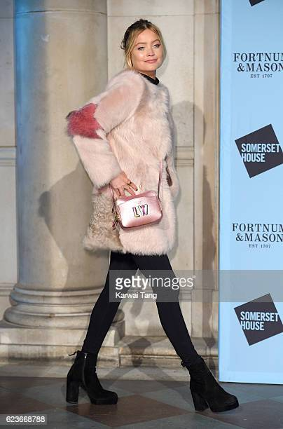Laura Whitmore attends the launch party for Skate at Somerset House with Fortnum Mason at Somerset House on November 16 2016 in London England