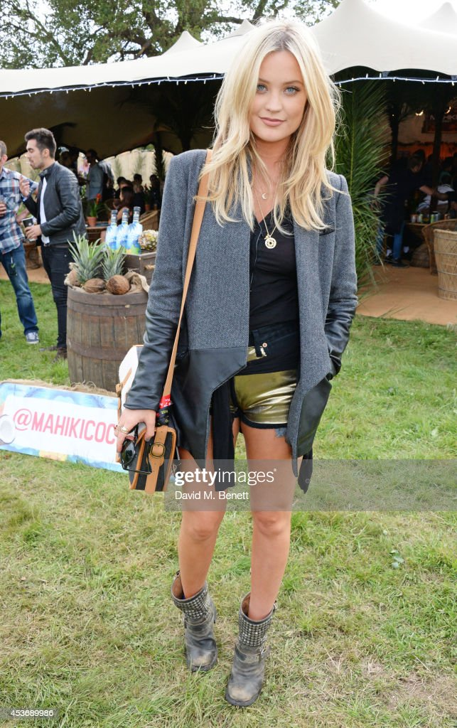 <a gi-track='captionPersonalityLinkClicked' href=/galleries/search?phrase=Laura+Whitmore&family=editorial&specificpeople=5599316 ng-click='$event.stopPropagation()'>Laura Whitmore</a> attends the Mahiki Rum Bar for the launch of the Mahiki Rum Family backstage during day 1 of the V Festival 2014 at Hylands Park on August 16, 2014 in Chelmsford, England.