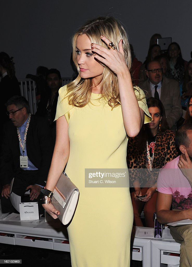 Laura Whitmore attends the Maria Grachvogel show during London Fashion Week Fall/Winter 2013/14 at Somerset House on February 19, 2013 in London, England.