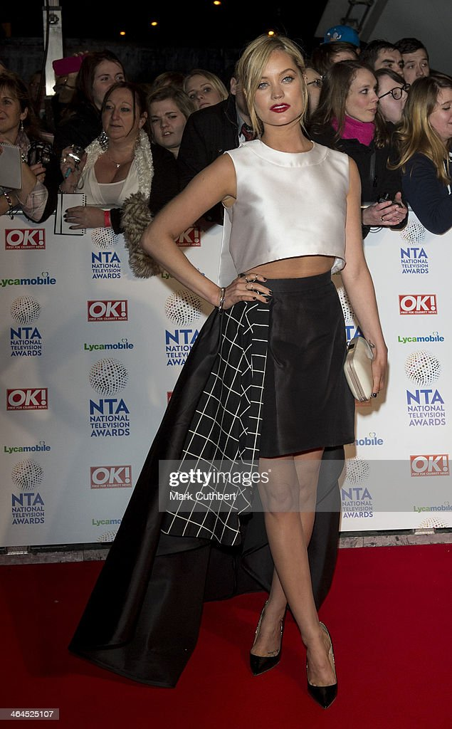 <a gi-track='captionPersonalityLinkClicked' href=/galleries/search?phrase=Laura+Whitmore&family=editorial&specificpeople=5599316 ng-click='$event.stopPropagation()'>Laura Whitmore</a> attends the National Television Awards at 02 Arena on January 22, 2014 in London, England.