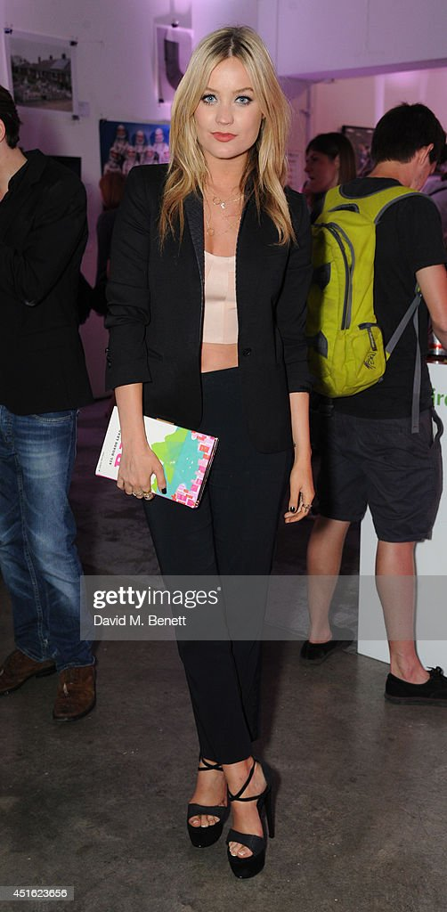 Laura Whitmore attends the Nokia Lumia 630 #100aires Pop-up store, at The Old Truman Brewery on July 2, 2014 in London, England.