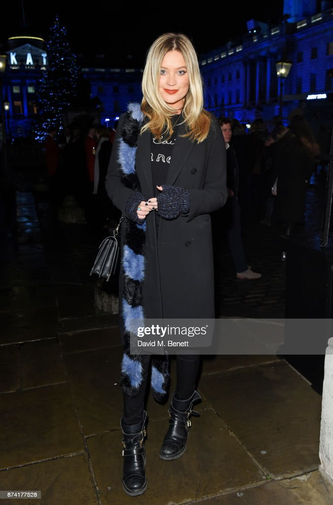 Laura Whitmore attends the opening party of Skate at Somerset House with Fortnum & Mason on November 14, 2017 in London, England. London's favourite festive destination opens at Somerset House on Wednesday 15th November and runs until Sunday 14th January 2018.