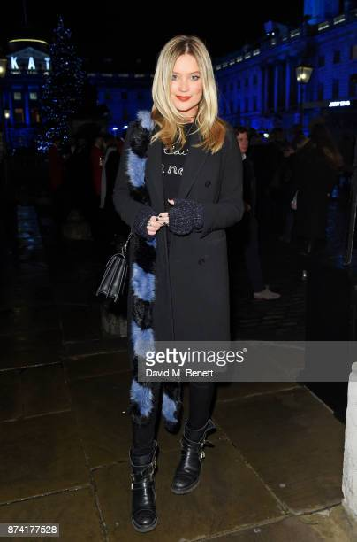 Laura Whitmore attends the opening party of Skate at Somerset House with Fortnum Mason on November 14 2017 in London England London's favourite...