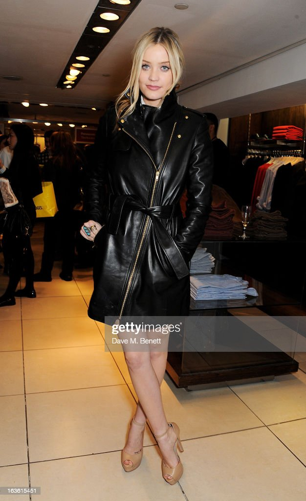 Laura Whitmore attends the Panasonic Technics 'Shop To The Beat' Party hosted by George Lamb at French Connection Oxford Circus on March 13 2013 in...