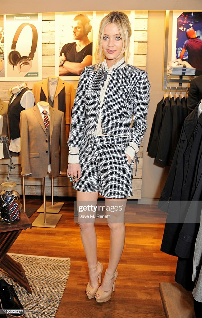 Laura Whitmore attends the Panasonic Technics 'Shop To The Beat' Party hosted by George Lamb at French Connection, Oxford Circus, on March 13, 2013 in London, England.
