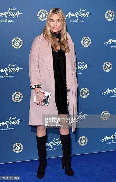 Laura Whitmore attends the Red Carpet arrivals for Cirque Du Soleil Amaluna at Royal Albert Hall on January 19 2016 in London England