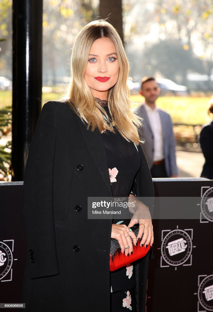 Laura Whitmore attends the TRIC Awards Christmas lunch at Grosvenor House, on December 12, 2017 in London, England.