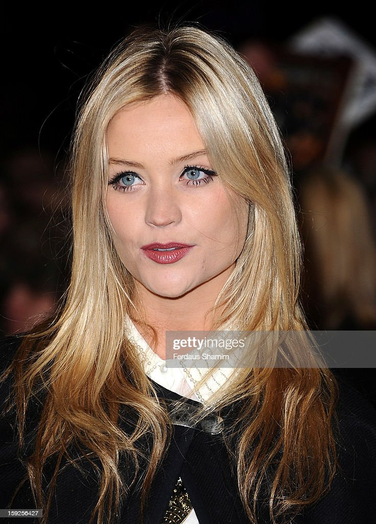 Laura Whitmore attends the UK Premiere of 'Django Unchained' at Empire Leicester Square on January 10, 2013 in London, England.