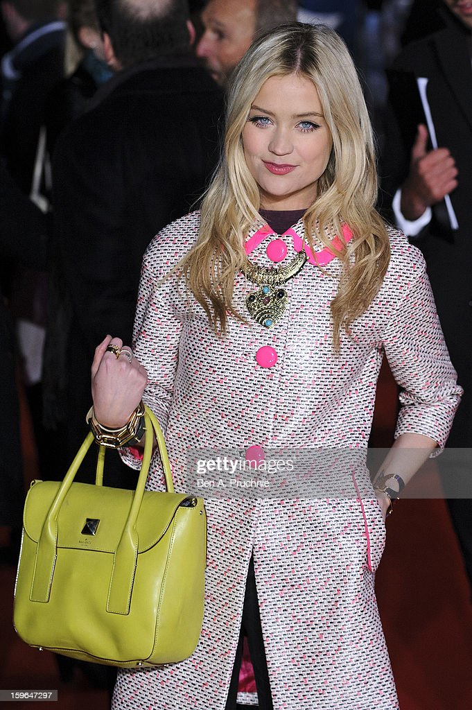 Laura Whitmore attends the UK Premiere of 'Flight' at The Empire Cinema on January 17, 2013 in London, England.