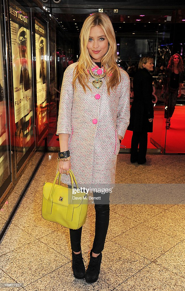 Laura Whitmore attends the UK Premiere of 'Flight' at the the Empire Leicester Square on January 17, 2013 in London, England.