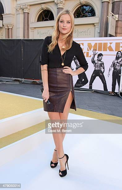 Laura Whitmore attends the UK Premiere of 'Magic Mike XXL' at the Vue West End on June 30 2015 in London England