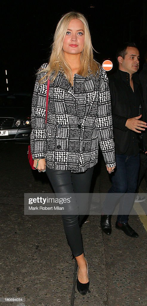 <a gi-track='captionPersonalityLinkClicked' href=/galleries/search?phrase=Laura+Whitmore&family=editorial&specificpeople=5599316 ng-click='$event.stopPropagation()'>Laura Whitmore</a> attends the W Magazine September issue party at The London EDITION hotel on September 14, 2013 in London, England.