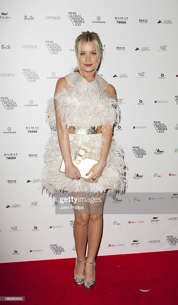 Laura Whitmore attends the WGSN Global Fahsion awards at Victoria & Albert Museum on October 30, 2013 in London, England.
